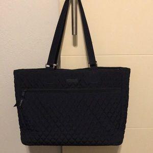 Vera Bradley Work Tote Bag in Navy Blue